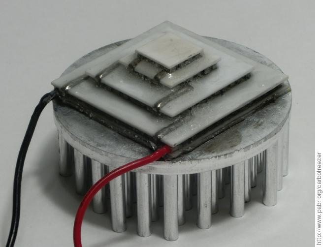 Toward Thermoelectric Production Of Dry Ice