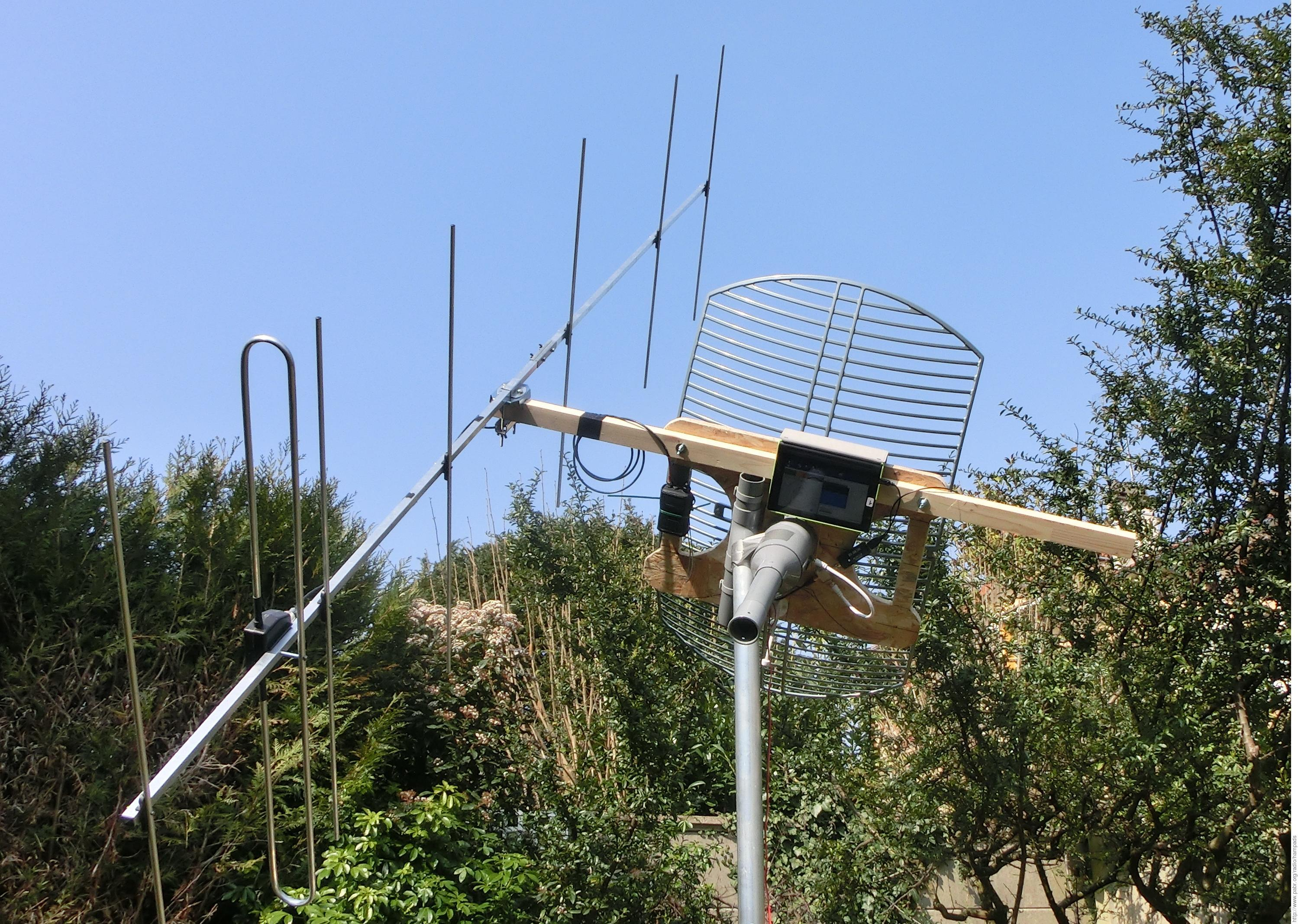 HAMPADS: HAM-Portable Affordable Dish for Satellites
